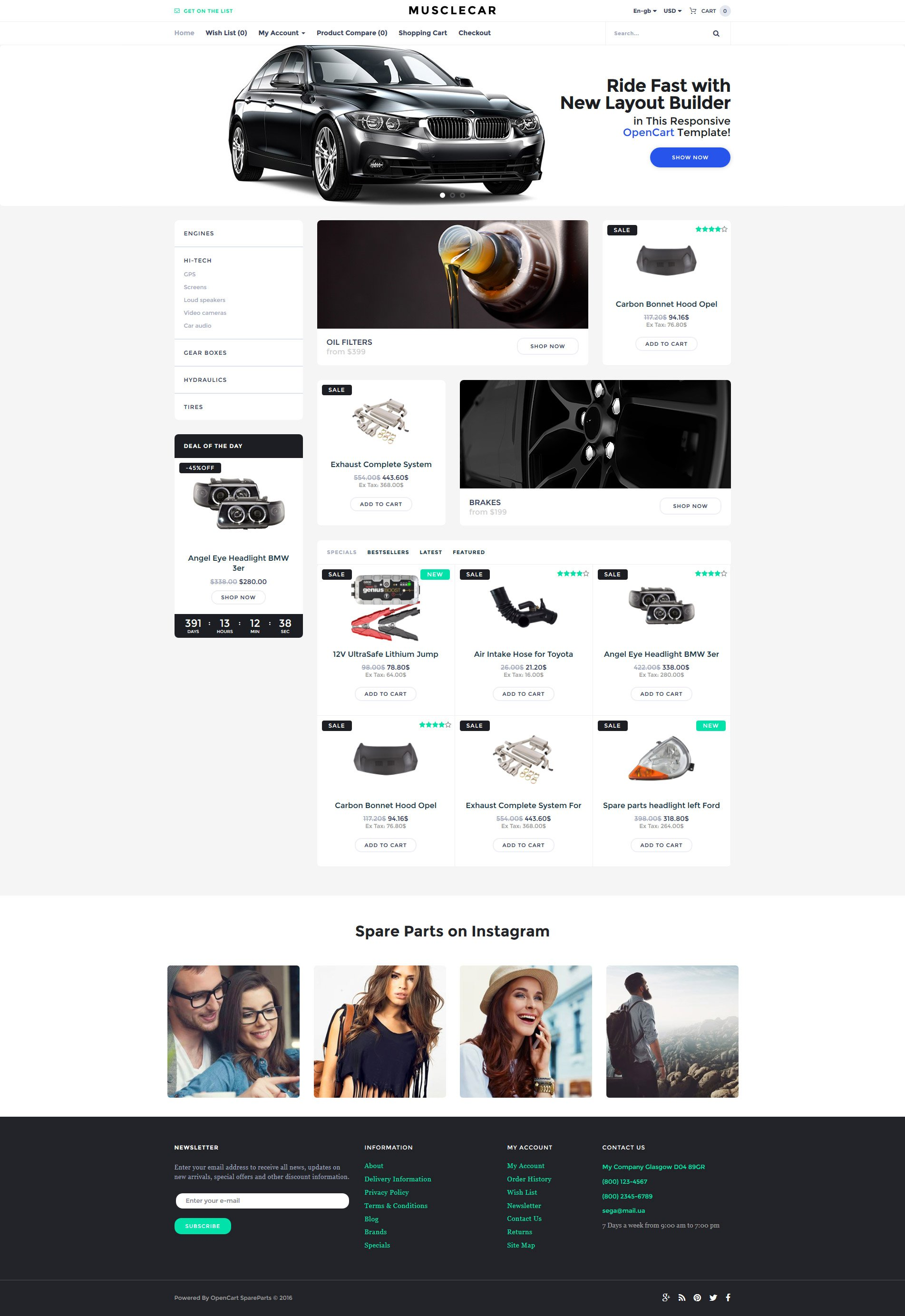 Auto Parts OpenCart Templates | TemplateMonster