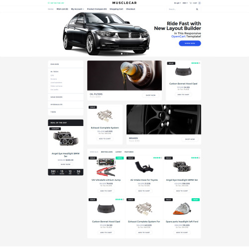Musclecar - OpenCart Template based on Bootstrap
