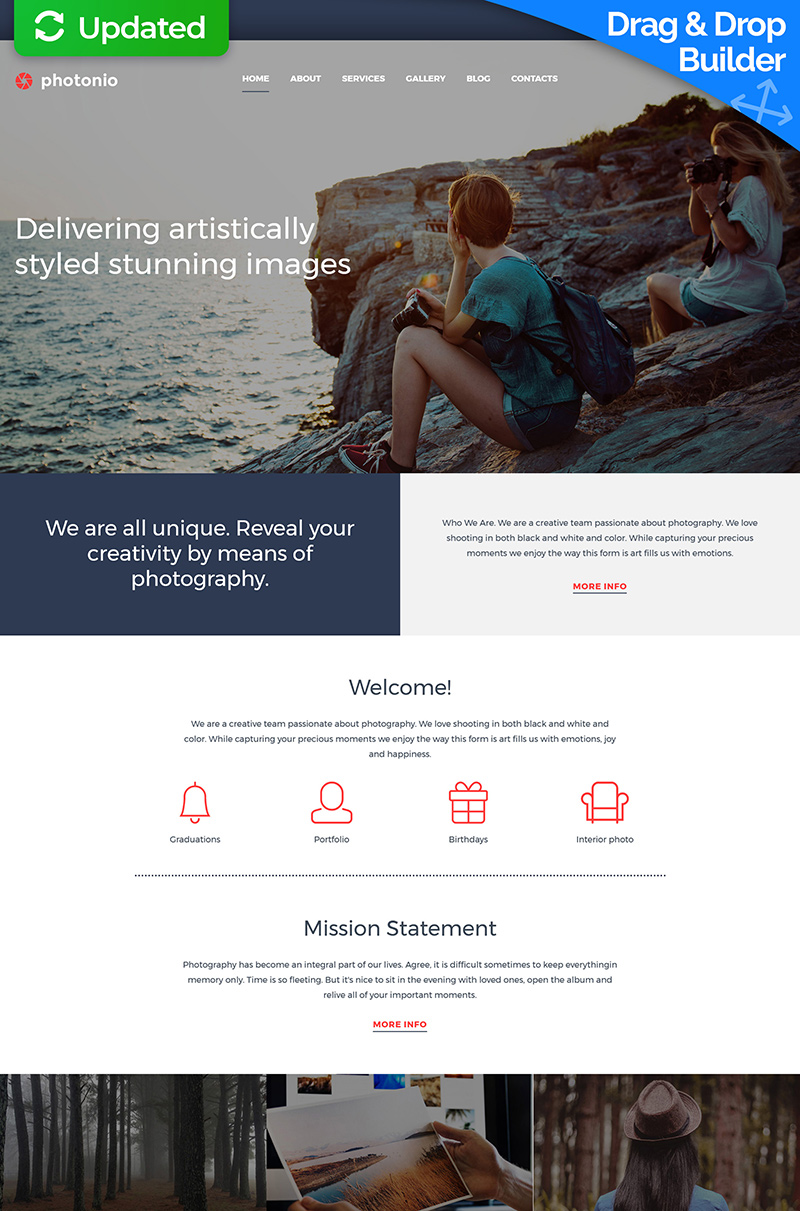 Photographer Portfolio Responsive Photo Gallery Template
