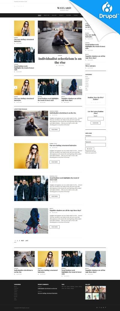 Plantilla Drupal para Sitio de Bloges de moda #59575