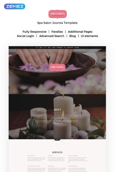 Plantilla Joomla para Sitio de Salones de belleza #59562