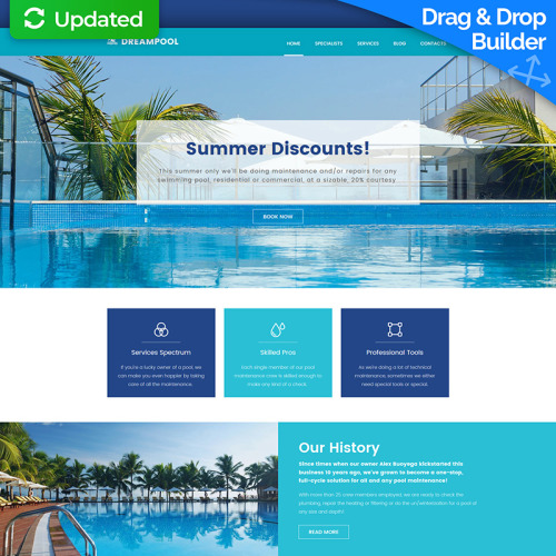 Dreampool - MotoCMS 3 Template based on Bootstrap