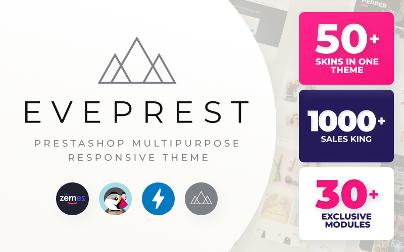 "PrestaShop Theme namens ""Eveprest"" #59555 - Screenshot"