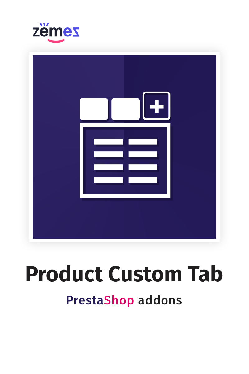 """Product Custom Tab"" extension pour PrestaShop   #59568"