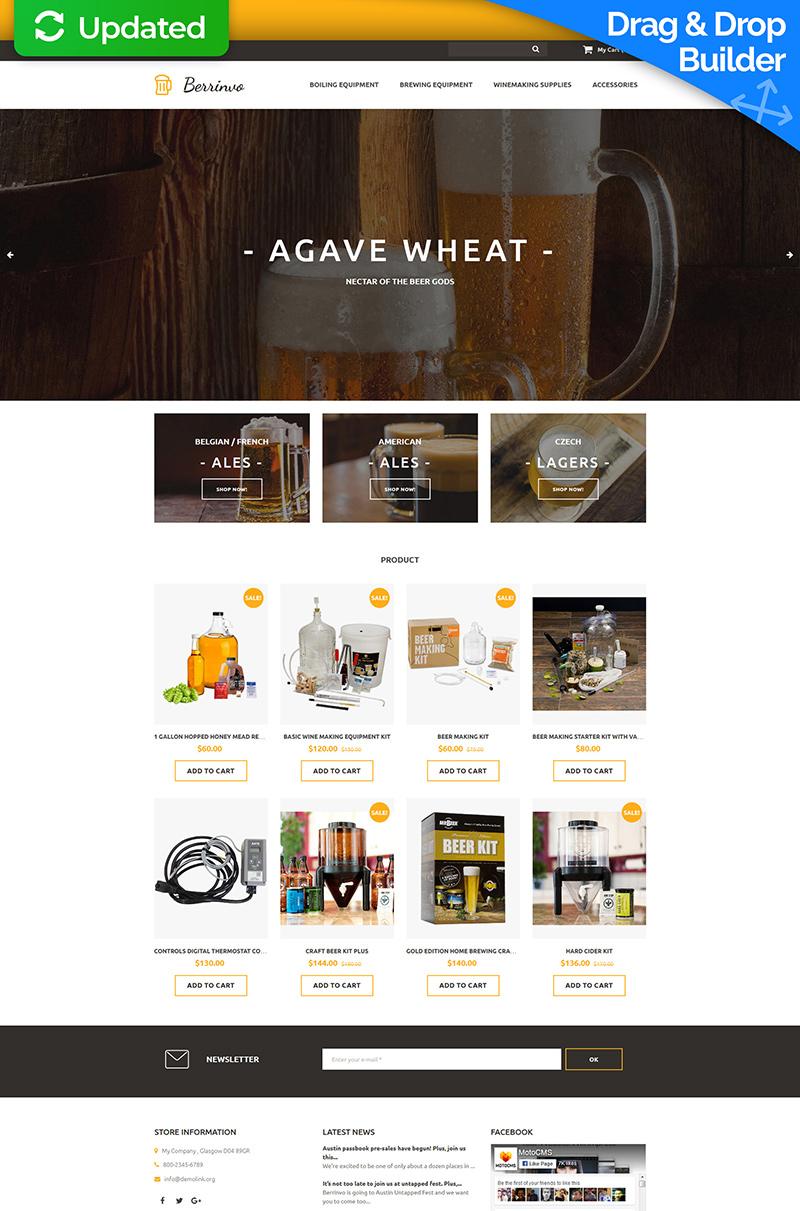 Responsive MotoCMS E-Commerce Vorlage für  Brauerei #59528