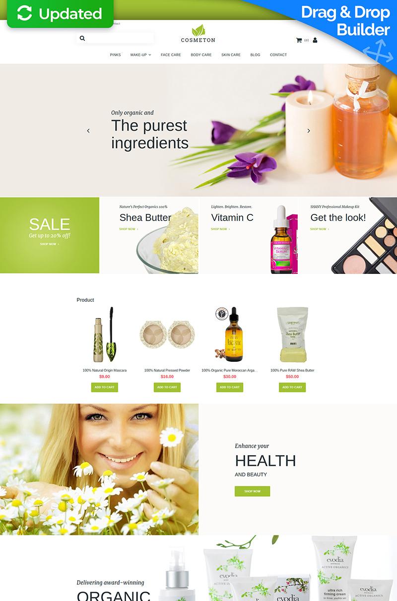 MotoCMS E-Commerce Vorlage #59521 für Kosmetik-Geschäft