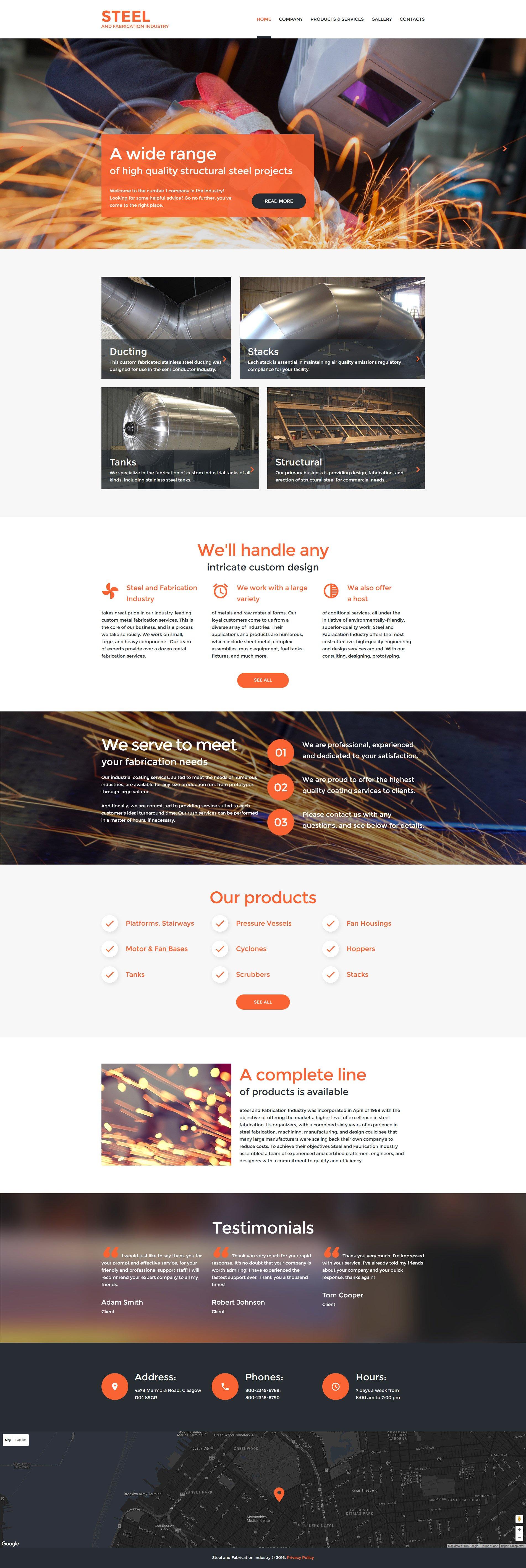 Responsive Website Vorlage für Schweißen #59561 - Screenshot