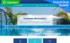 Responsive Yüzme Havuzu  Moto Cms 3 Şablon New Screenshots BIG