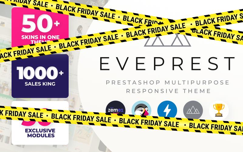 Responsivt Eveprest - Multifunktionell PrestaShop-tema #59555
