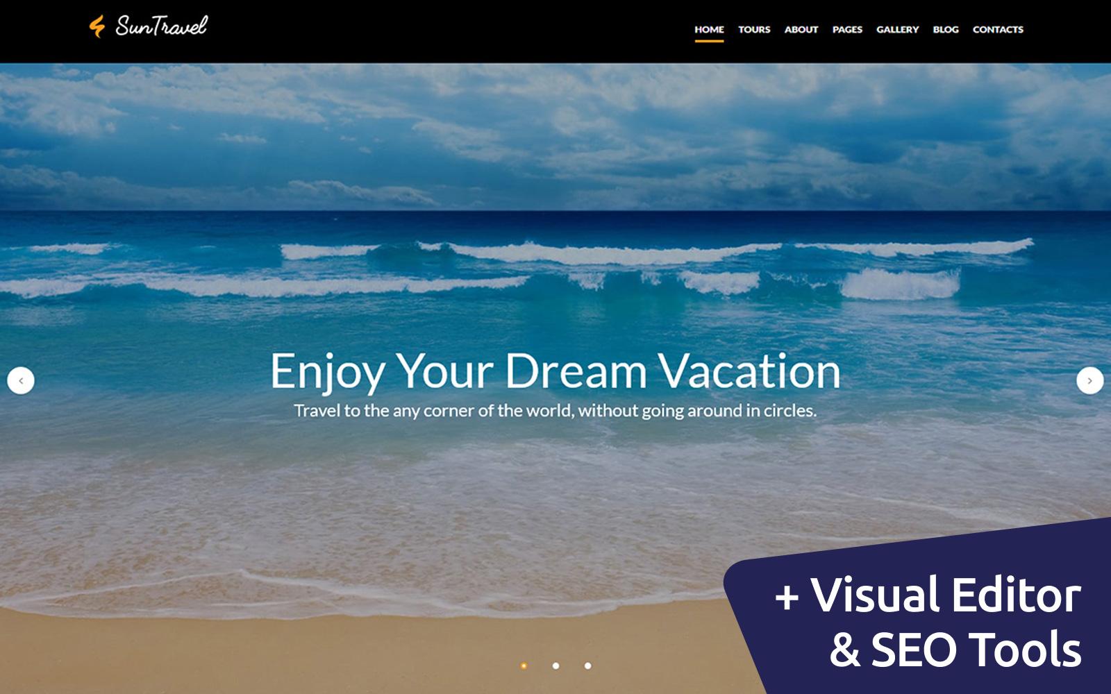 "Responzivní Moto CMS 3 šablona ""Travel and Tourism"" #59534"