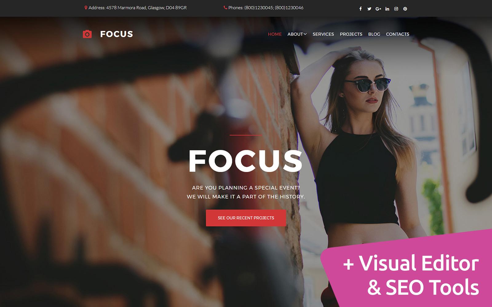"Responzivní Šablona Fotogalerie ""Focus -  Portfolio"" #59553"