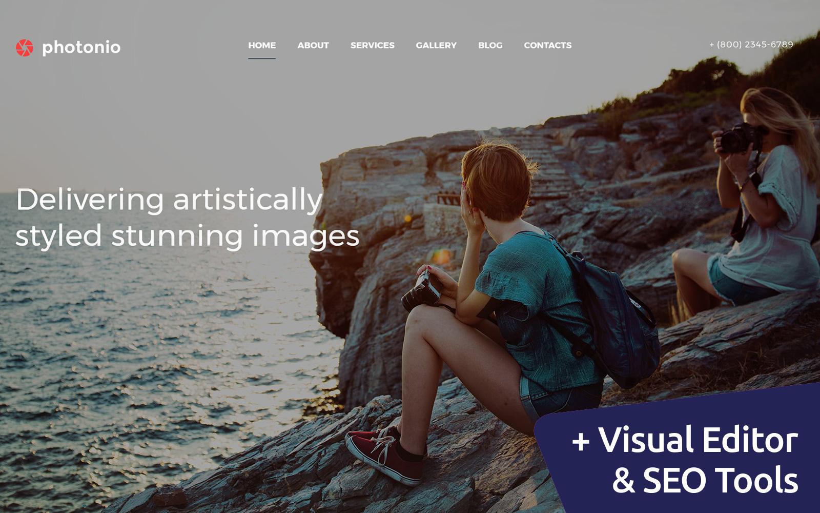 """Responzivní Šablona Fotogalerie """"Photonio - Photo Gallery"""" #59550"""