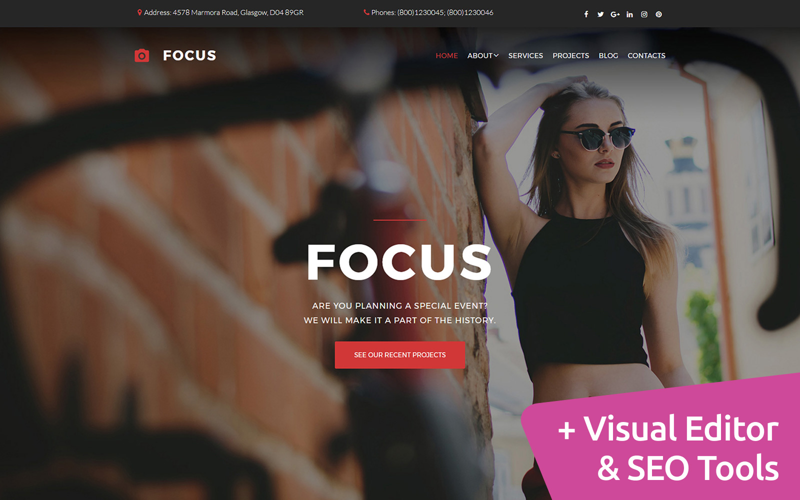 Reszponzív Focus -  Portfolio Fényképgaléria sablon 59553