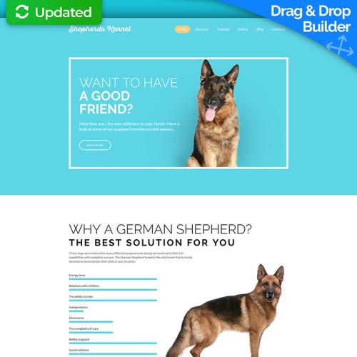 Shepherds Kennel - MotoCMS 3 Template based on Bootstrap