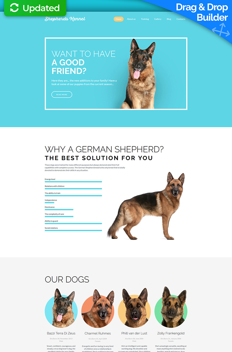 Shepherds Kennel Responsive Templates Moto CMS 3 №59537 - screenshot