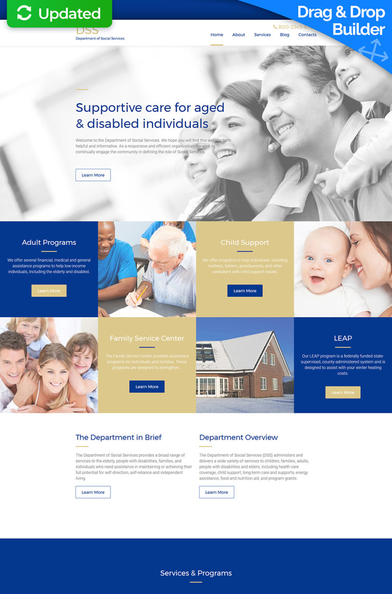 Social Services Responsive Moto CMS 3 Template New Screenshots BIG