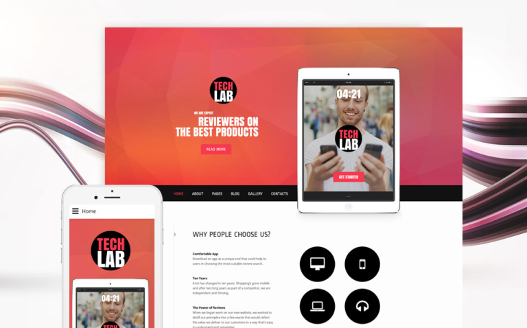 TechLab - Electronics Review Joomla Template New Screenshots BIG