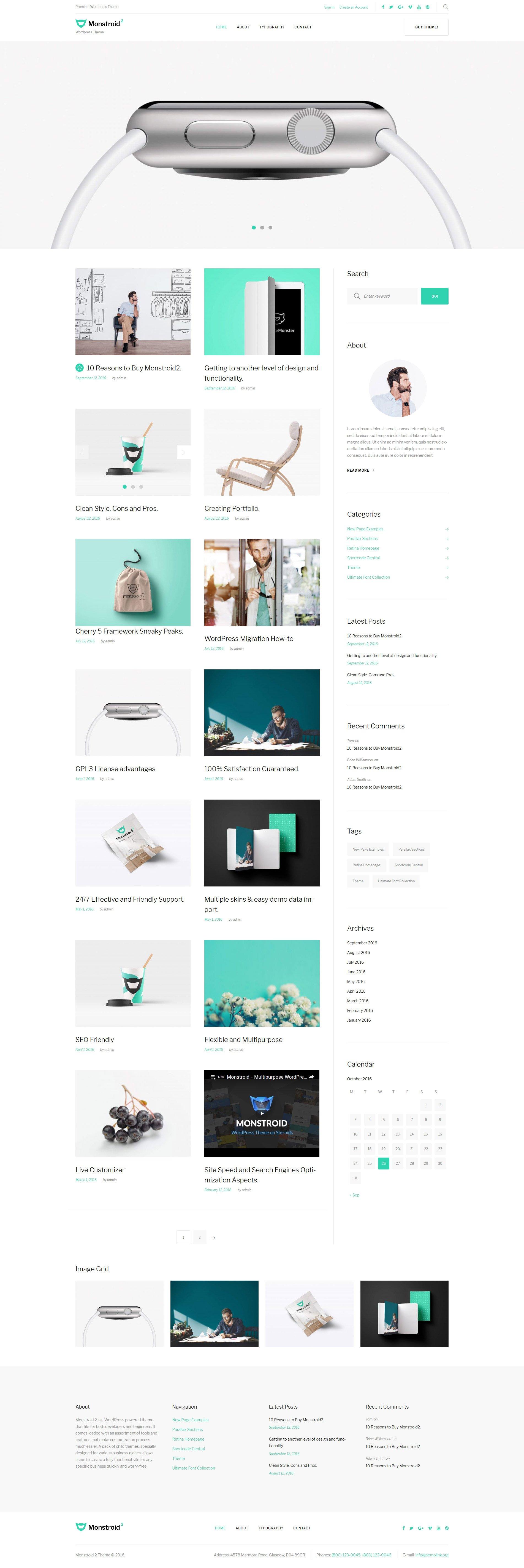"Tema De WordPress ""Monstroid 2 Lite - plantilla WordPress gratis"" #59560 - captura de pantalla"