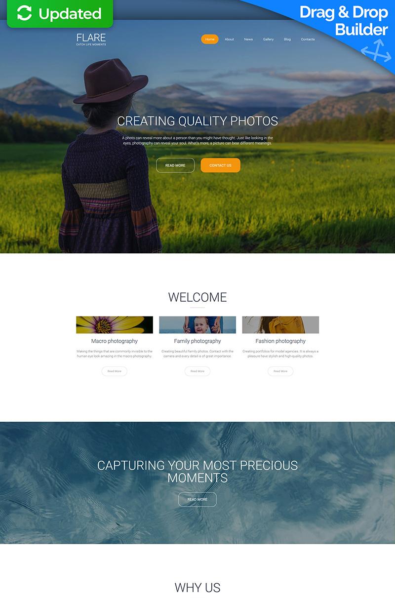 Template de Galeria de Fotos para Sites de Portfólio de Fotografo №59551