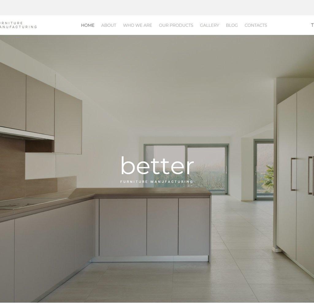 Template siti web 59557 per un sito di arredamento for Siti di arredamenti