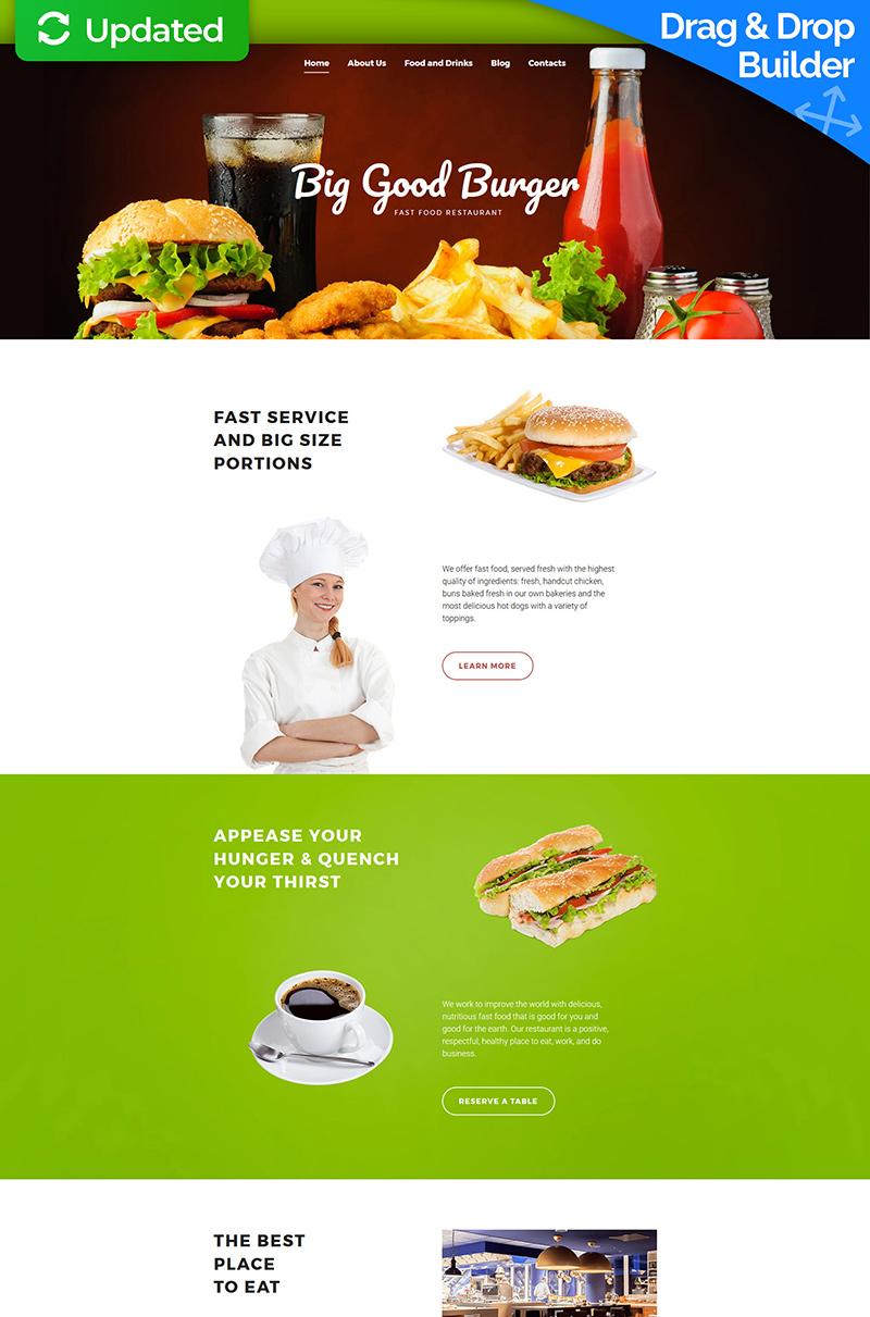 Templates Moto CMS 3 Flexível para Sites de Fast Food №59549