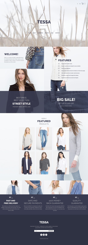 Tessa - Fashion & Clothing Store №59569