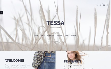 Tessa - Fashion & Clothing Store OpenCart Template