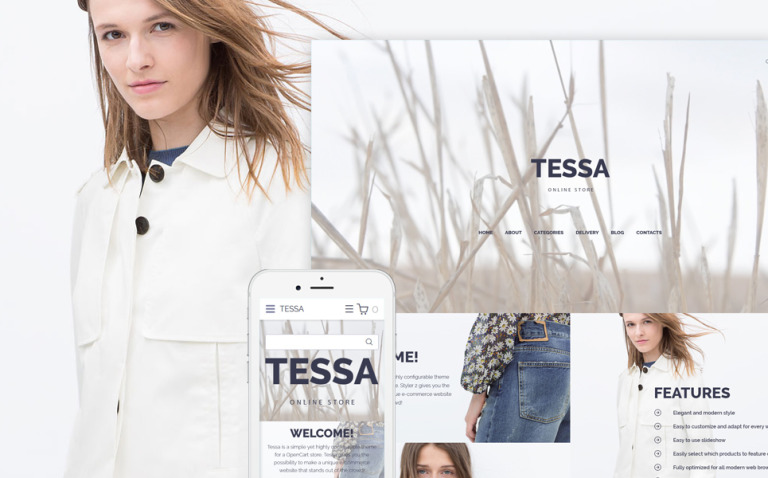 Tessa - Fashion & Clothing Store OpenCart Template New Screenshots BIG