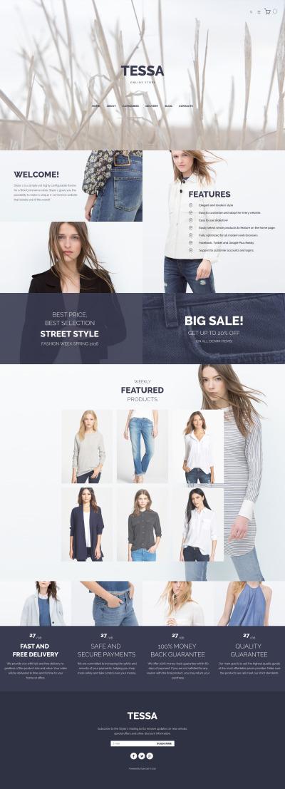 Tessa - Fashion & Clothing Store OpenCart Template #59569