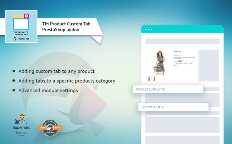 TM Product Custom Tab PrestaShop Module New Screenshots BIG