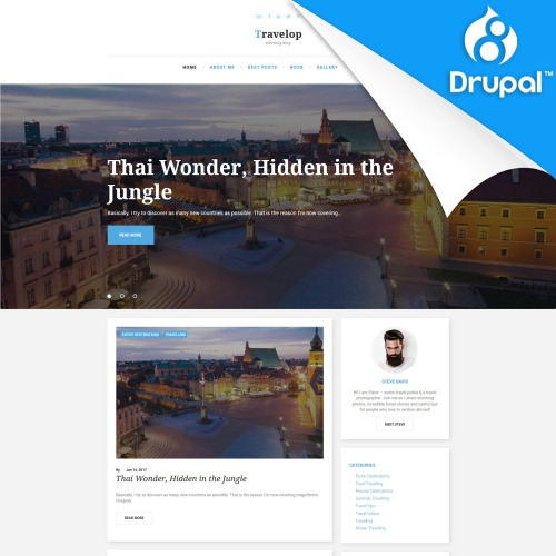 Travelop  - Drupal Template based on Bootstrap