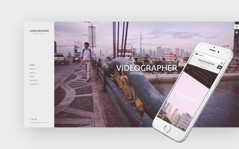 Videographer Responsive Joomla Template New Screenshots BIG