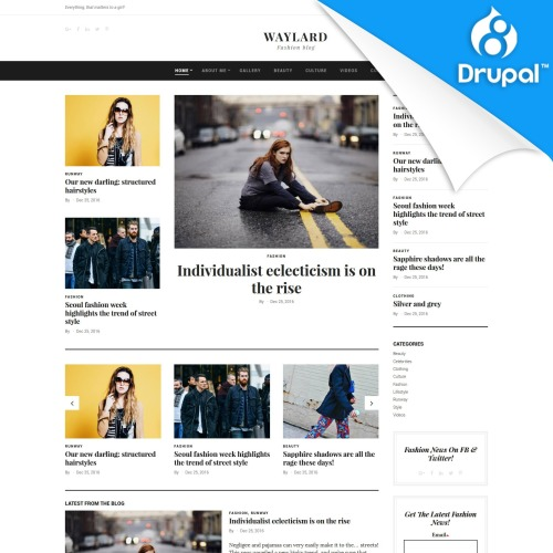 Waylard  - Drupal Template based on Bootstrap