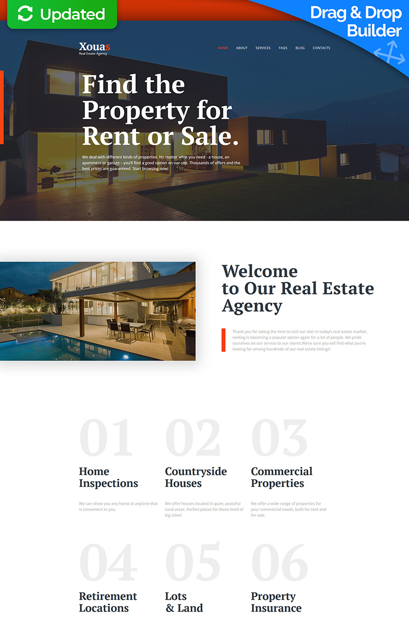 Xouas - Real Estate Responsive Moto CMS 3 Template