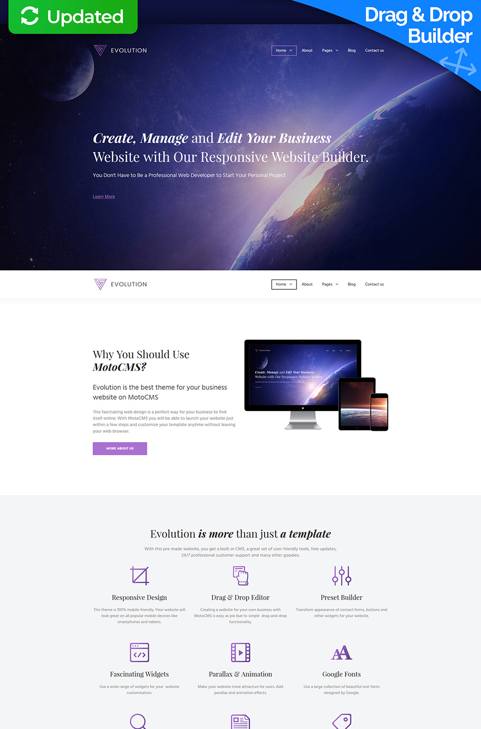 Multipurpose template for business