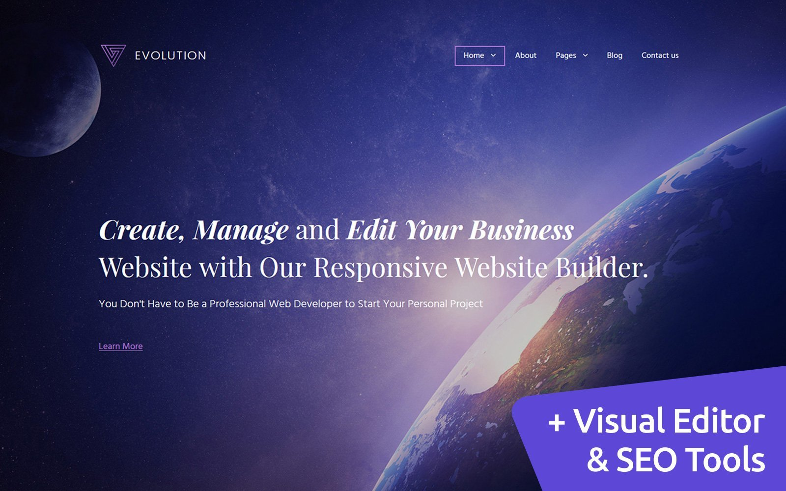 """Evolution Business Moto CMS 3 Template"" Responsive Moto CMS 3 Template №59995"