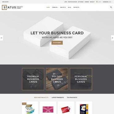 Купить Шаблон интернет-магазина печатной продукции и визиток. Купить шаблон #60001 и создать сайт.
