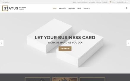 Status Business Cards VirtueMart Template