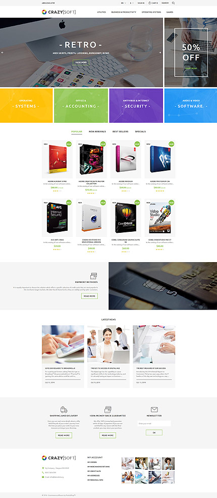 ADOBE Photoshop Template 60012 Home Page Screenshot