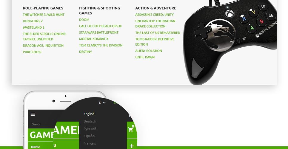 Gamedixi - Computer Games PrestaShop Theme