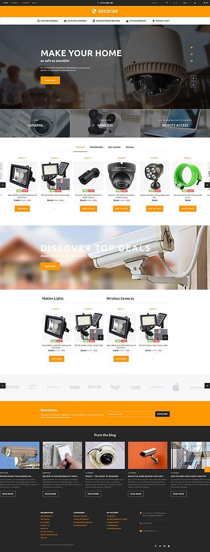 ADOBE Photoshop Template 60016 Home Page Screenshot