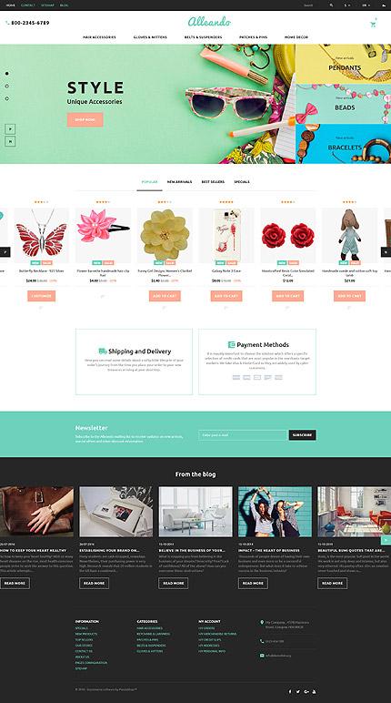 ADOBE Photoshop Template 60017 Home Page Screenshot