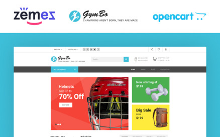 GymBo OpenCart Template