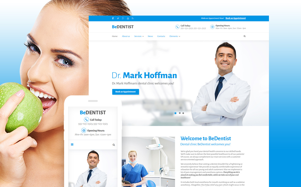 BeDentist template illustration image
