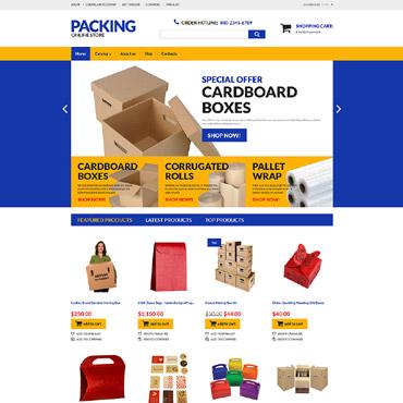 Купить Интернет-магазин упаковочных материалов  и упаковки на VirtueMart . Купить шаблон #60041 и создать сайт.