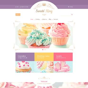 Купить Шаблон интернет-магазина кондитерских изделий на VirtueMart Sweets' King. Купить шаблон #60042 и создать сайт.