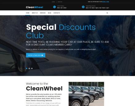 CleanWheel Car Wash WordPress Theme
