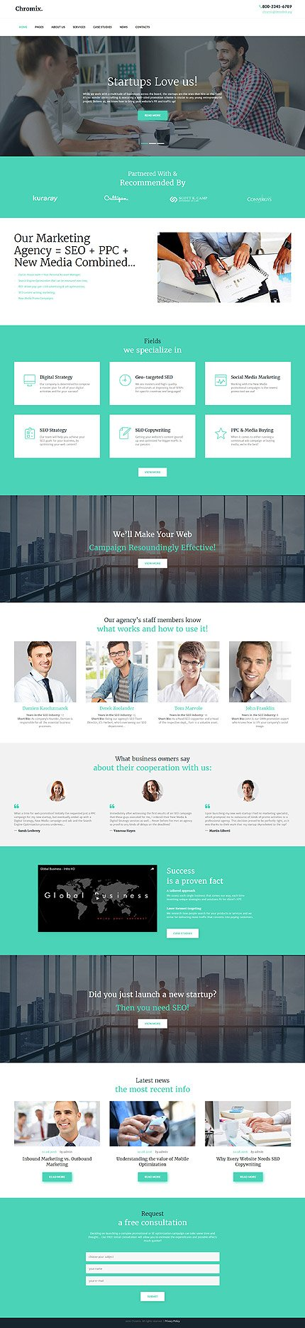 WordPress Theme/Template 60046 Main Page Screenshot
