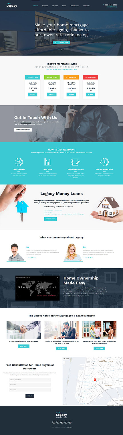 WordPress Theme/Template 60048 Main Page Screenshot