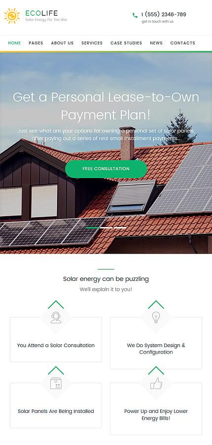 WordPress Theme/Template 60051 Main Page Screenshot